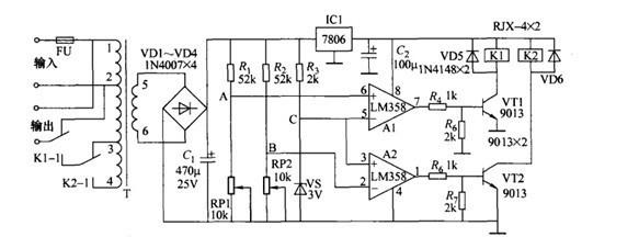 德力西交流稳压器电路的电路原理简介